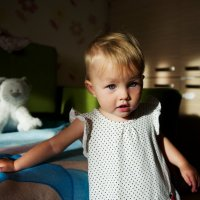 съемка детей в домашней обстановке с естественным светом :: Sofia Rakitskaia