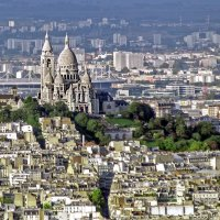 Монмартр, базилика Сакре Кёр, стадион Стад де Франс, Париж :: Виталий Авакян
