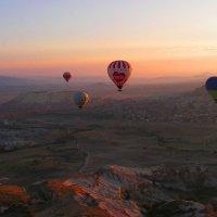Рассвет над Каппадокией с высоты воздушного шара :: Елена Даньшина