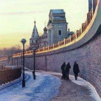 Закатный город...Морозный :: Александр | Матвей БЕЛЫЙ