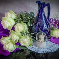 Букет из белых роз. Любовь здесь в каждом лепестке... :: Милена )))