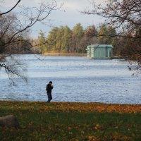 пейзаж с озером и павильоном :: sv.kaschuk