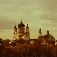 """Свято-Пантелеймоновский монастырь в стиле """"Ретро"""" :: Андрей Нибылица"""