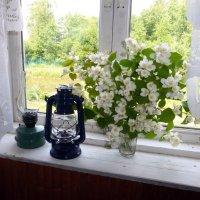 Деревенское окно :: Елена Грошева
