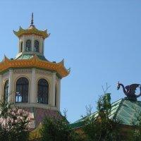Китайская деревня. Вид на Китайский театр. Башенка театра :: Елена Павлова (Смолова)