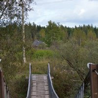 Подвесной мост на Редье. :: Sergey Serebrykov