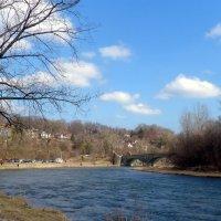 Река Хамбер и старый мост...(апрель 2013) :: Юрий Поляков