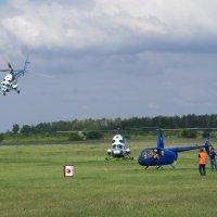 Вертолетный спорт. Разлет по площадке. :: Олег Чернов