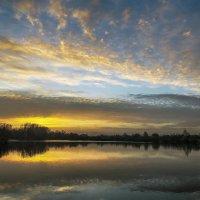 закат на озере :: лиана алексеева