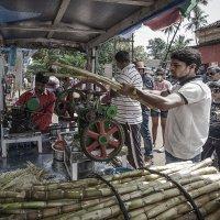 Свежевыжатый сок из бамбука...Индия,Гоа... :: Александр Вивчарик