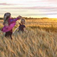 Мы  бежали за закатом, провожая его полем :: Ирина Данилова