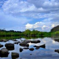 лето.река.утро.облака :: юрий иванов