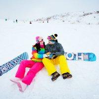 Зимняя лавстори на сноубордах :: Наталья Жукова