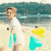 девушка на пляжу :: Iryna Chorna
