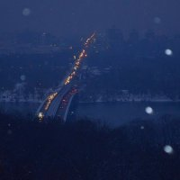 Ночной вид на Днепр :: Ростислав