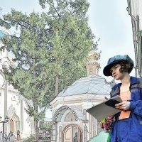 Сквозь сетку линий - светлый храм, вдруг проступивший ниоткуда… :: Ирина Данилова