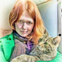 Дама с котом)) :: Денис Вишняков