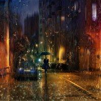 Жизнь не экзотика, москвичка под зонтиком, барокко и готика, Мадонна на каблучках... :: Сергей Михайлов