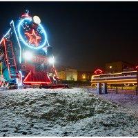 Памятники-локомотивы Бурятии и Хатико :: Алексей Белик