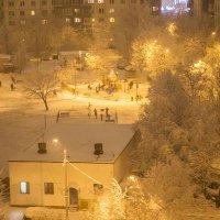 наш двор после снегопада :: Лариса Батурова