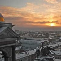 зимний закат над городом :: Елена