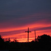пламенный закат :: вера Верхозина