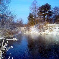 Зимняя река 2 :: оксана