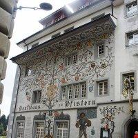 Вот такое генеалогическое древо раскинулось на одном из домов швейцарского города Люцерна :: Елена Павлова (Смолова)