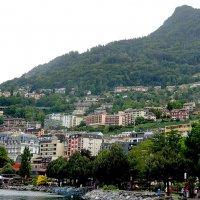 Со всех сторон Монтре окружают горы, виноградники, поля и леса :: Елена Павлова (Смолова)