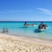 Прибытие туристов на остров Умм-Агавиш, Египет :: Денис Кораблёв