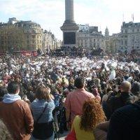 Бой подушками на Трафальгарской площади. :: Елена
