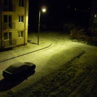 ночь....улица....фонарь...и ...первый снег! :: Oxi --