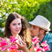 Влюбленные в тюльпанах :: Irina Rudakova