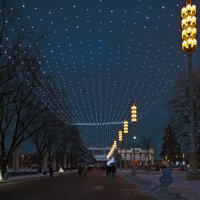 Новогодняя дорожка. :: Владимир Питерский