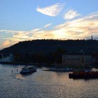 Закат над Влтавой :: Ольга