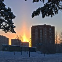 Гало над городом :: Иван Клещин
