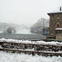 Рейнский водопад в снегу :: Witalij Loewin