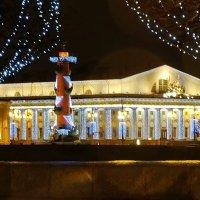 Здание биржи и ростральная колонна. :: Владимир Гилясев