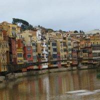 Испания. Разноцветные дома вдоль канала. :: Герович Лилия