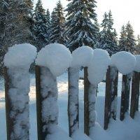Рождественский забор :: Виктор Елисеев