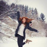 Рыжая и снег :: Анна Нестерова