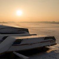 Полон сказкою зимний закат, отступает реальность куда-то... :: Лидия Цапко