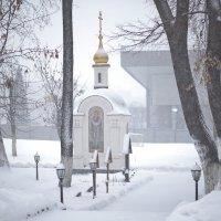 Монастырь. Повседневная жизнь. Снегопад. :: Геннадий Александрович