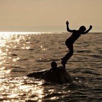 Вечерние купания :: Сергей Щеглов