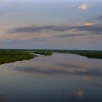 Российские пейзажи. Закат на реке Вычегде в Коми :: Инна *