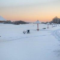 Зимний вечер на пляже :: Евгений Никифоров