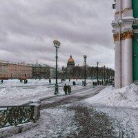 У Зимнего дворца...январь :: Валентин Яруллин
