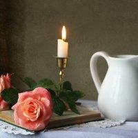 Две розы пышно расцвели... :: lady-viola2014 -