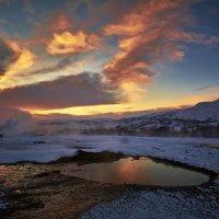 """Озеро кипятка около гейзера Geysir (из серии """"Исландия"""") :: Игорь Иванов"""