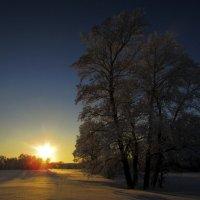 Закат зимой :: Константин Филякин